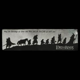 预售weta指环王魔戒护戒队皮质书签LEATHER BOOKMARK: FELLOWSHIP SILHOUETTE