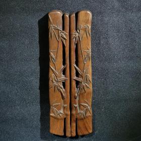 高风亮节 木雕竹子镇尺