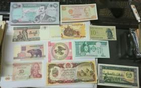 各国纸币全新品一组11张合售!!!