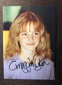 【卖家保真】艾玛沃特森 亲笔签名照 7寸  收藏品