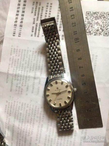 圆弧口燕尾护口老表链18毫米宽老表带钢珠带手表带完好实拍送钻石牌手表走时不退换呢