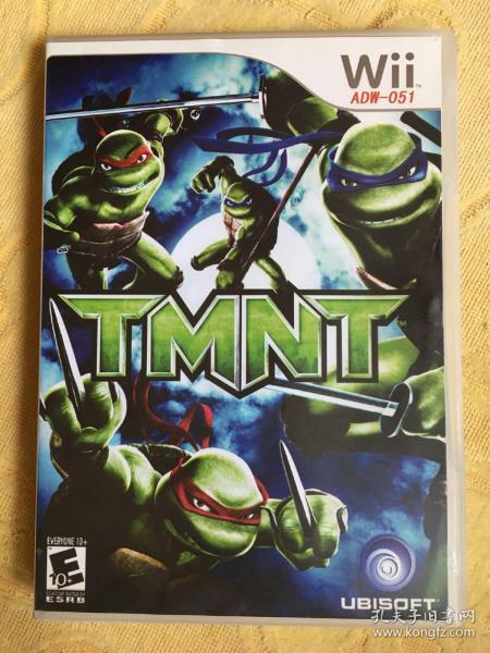 Wii游戏 忍者神龟 游戏光盘