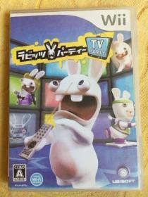Wii游戏 雷曼 疯狂兔子 TV Party 日版 游戏光盘