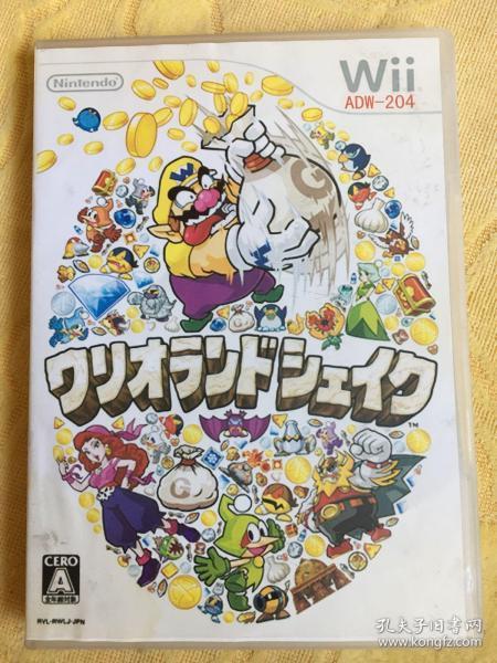 Wii游戏 瓦里奥大陆 游戏光盘