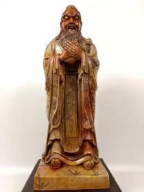 刚淘得,手工雕刻寿山石孔子像一尊,雕工一流。