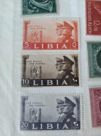 希特勒3张邮票