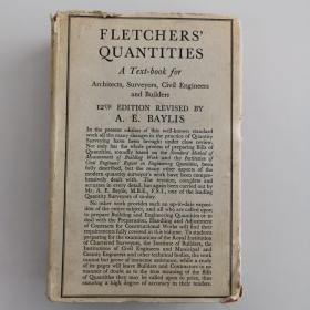 FLETCHERS' QUANTITIES A Text-book for Architects,Surveyors,Civil Engineers and Builders