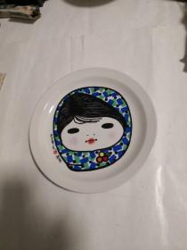 人民日报创刊四十周年纪念(1948-1988)瓷盘《李平凡作于北京》