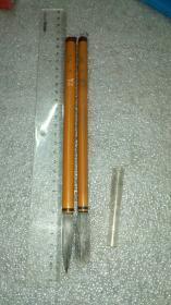 日本老毛笔:嵩山堂大笔,纯白四号与五号。有锋有尖