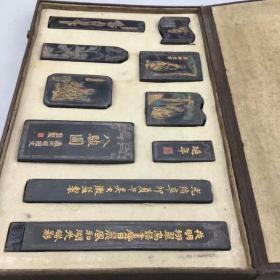 墨锭一套保存完整民间收藏老品