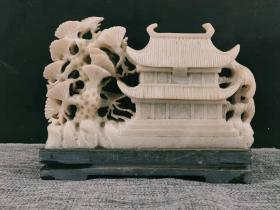 玉石摆件一个,雕工精细,品相尺寸如图
