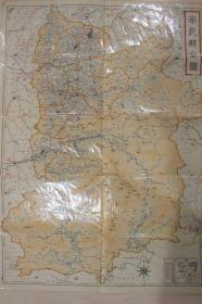 DDG-01昭和3年,《帝国府县地图-奈良县》1枚