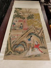 古董古玩书画传世的人物书画