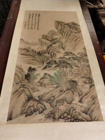 古董古玩字画山水图