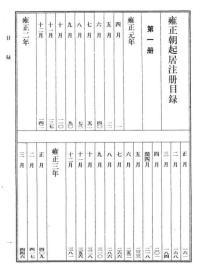 雍正朝起居注册