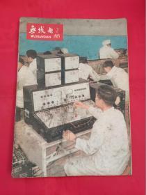 无线电1965年第2期(封底海棠63-31型交流三灯半导体收音机)