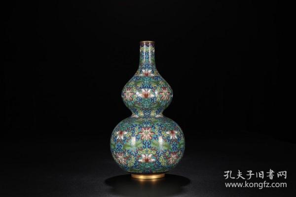 景泰蓝缠枝花卉纹葫芦赏瓶