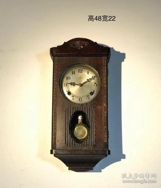 民国进口爱知古董挂钟,包老保真,设计独特,存世量少,原装机芯,走打良好,可投资收藏……