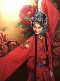 著名油画家陈顺强老师作品,画心90x120,不带框,作品编号50189
