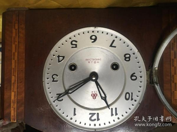 老机械钟老三五牌台钟555牌座钟中国上海制造正常走时正常报时敲钟喔品相好不退换呢