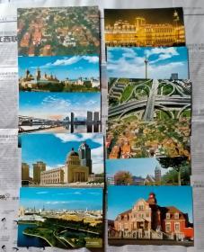 邮资明信片——天津旅游明信片  10枚  附带封套