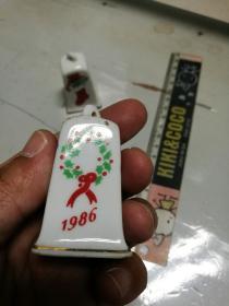 1986年制出口瓷玲珰
