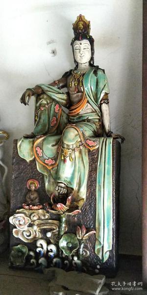自在观音 古董 古玩 瓷器 收藏品 真品