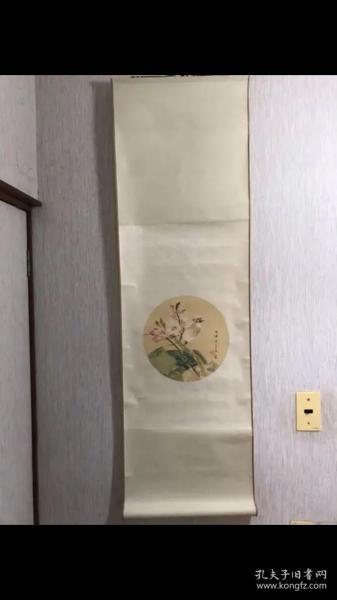 D-0009回流美术 国际朵云轩木版水印 清任伯年《桃花白头翁》绫裱立轴有版权签 纸本立轴尺寸126*38.5厘米 画心40*28厘米