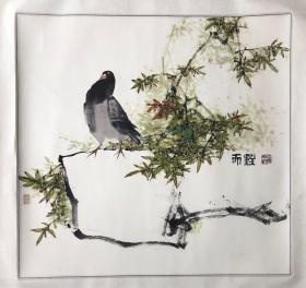 秦天柱花鸟
