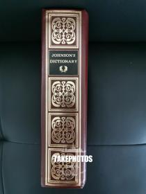 A Dictionary Of The English Language 《约翰逊大词典》 Samuel Johnson 约翰逊  1994 现代精装版 采用1843 年1卷本为底稿 带有约翰逊的序言