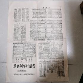 1985年4开  旅客列车时刻表(附河南省公路主要营运线路里程图)