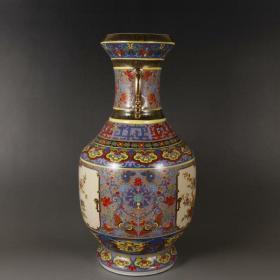 清描金珐琅彩瓷王瓶