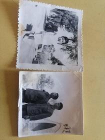 黑白照片2张