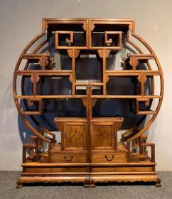 海南黄花梨博古架古董传世老家具明清木器