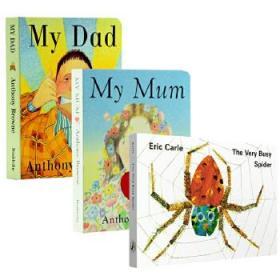 My Mum My Dad我爸爸妈妈 The Very Busy Spider繁忙的好忙的蜘蛛 英文版名家纸板书3册 儿童英文启蒙认知 0-3-6岁睡前晚安故事书 艾瑞卡尔Eric Carle 吴敏兰