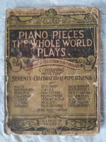 外文版《全世界都在弹奏的钢琴曲》该书由诸多世界名人:贝多芬、巴赫、肖邦等演奏第一次创作的原曲,称之是音乐爱好者真正取之不尽的财富宝库