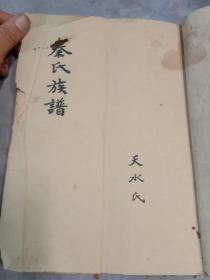 古代老族谱,秦氏族谱