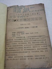 象棋 1964年7--12期 合订本  见描述