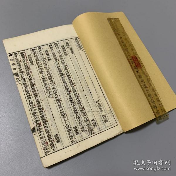 清代光绪石印本 法律专著 资治新书 卷十一、十二、十三、十四 朱笔圈点 厚册