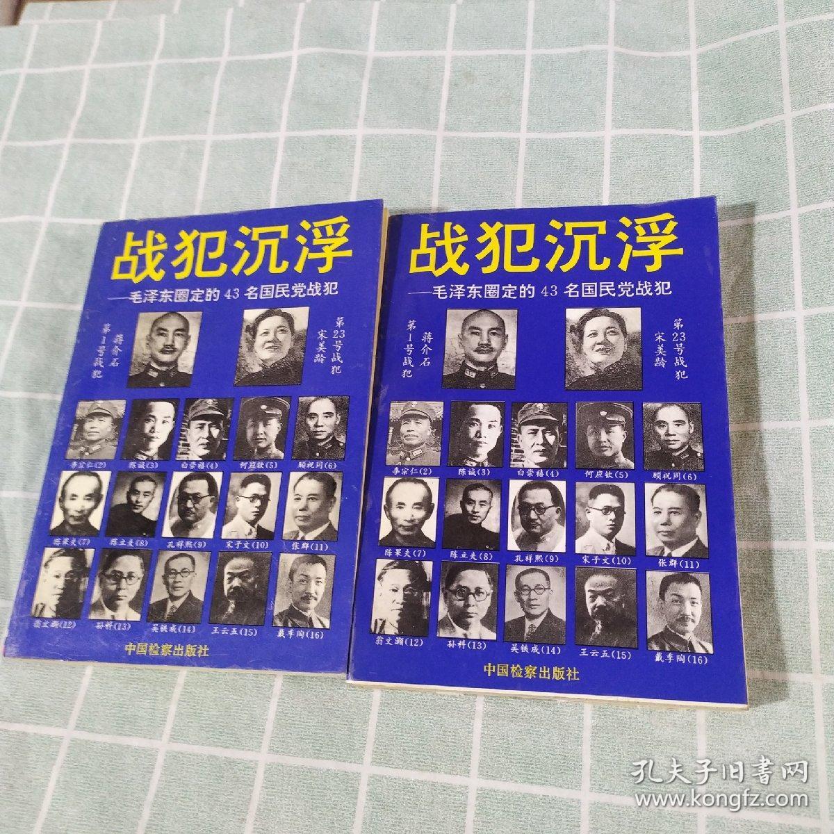 战犯沉浮:毛泽东圈定的43名国民党战犯(上下册)