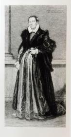 """""""莫罗尼 Moroni""""名画1888年意大利艺术珍品系列《斯皮尼家族夫人肖像》— 意大利波伦亚派代表画家""""乔凡尼·巴蒂斯塔·莫罗尼 Giovanni Battista Moroni 1524-1578""""作品"""