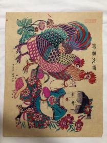 木版年画(新春大吉)40×50cm