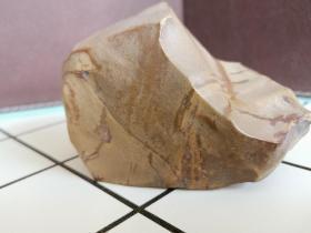 新疆戈壁滩彩泥画面石奇石摆件