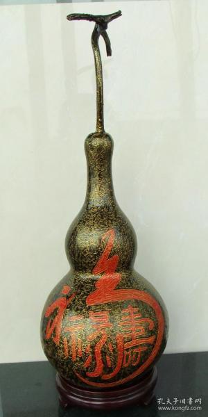 大漆葫芦《福禄寿》,个性创意艺术品
