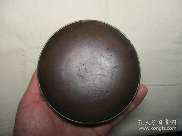 清代漆器碗 一只 带绘画工艺