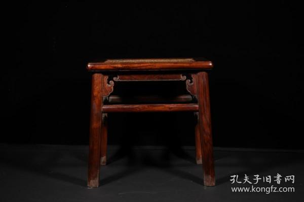 清代 黄花梨雕如意祥云纹椅子