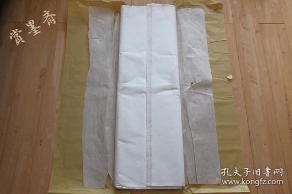 红星牌80年代老宣纸玉版棉料二层夹宣六尺36张书画用07N516