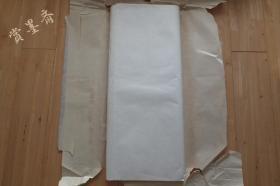 中国兰州纸 80年代老宣纸 1刀 四尺单宣92张 N530