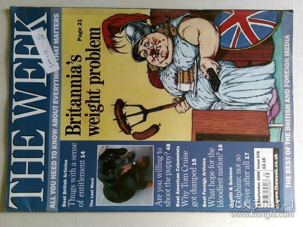 The Week 美国一周杂志 2006年9月2日 外文原版过期时事新闻
