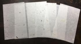 手工花草宣纸·三分熟信签·茶叶 红花 茶叶红花 黄花 青苔 稻草·17*28cm·每袋20张·下单需要哪个花色请告知,不告知则默认随机~